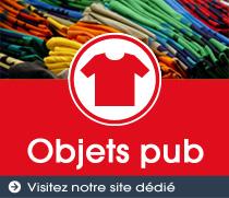 Sérigraphie textile objet pub
